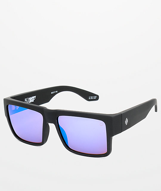 Spy Cyrus Matte Black Happy Bronze   Blue Spectra Sunglasses  8c0629b07df