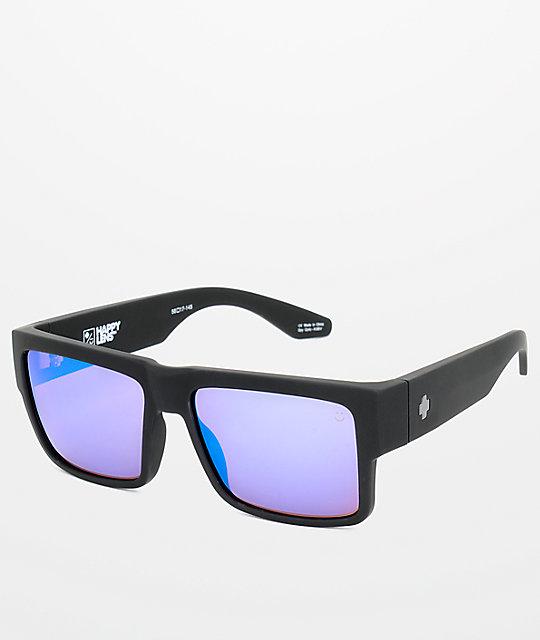Cyrus Happy Blue Bronzeamp; Spectra Sunglasses Spy Matte Black zMLSUpjqVG