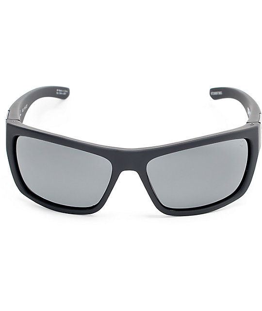 26e9675bbd ... Spy Dega Soft Matte Black Happy Lens Sunglasses