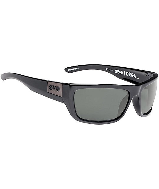 3dd56303ec Spy Dega Soft Matte Black Happy Lens Sunglasses