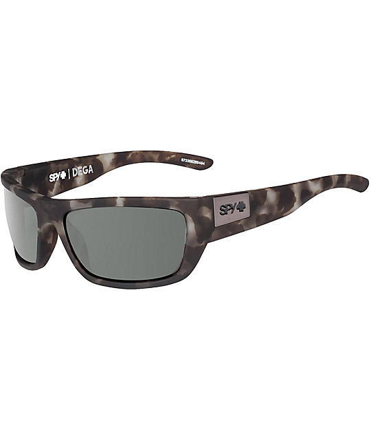 41f2c79d43 Spy Dega Soft Matte Smoke Tortoise Happy Lens Sunglasses