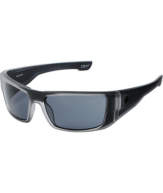 Spy Dirk Black Ice Collection Grey Sunglasses