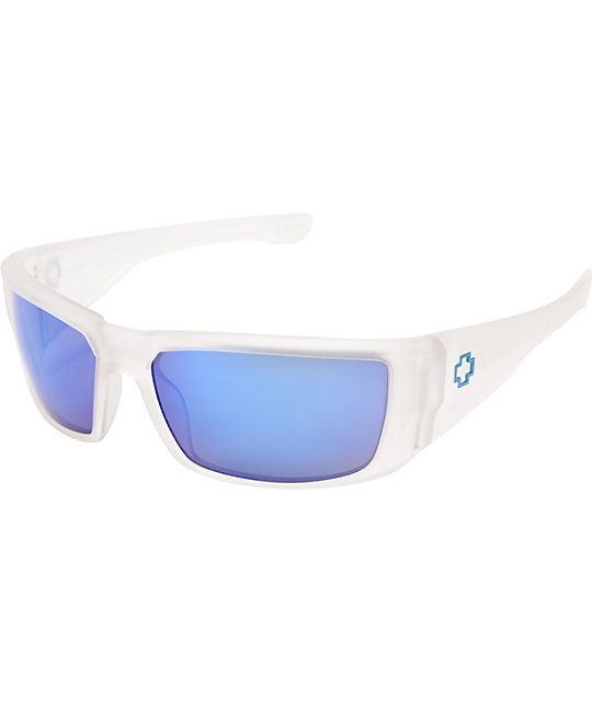 Spy Dirk Matte Clear & Blue Spectra Sunglasses