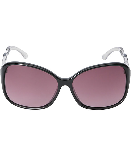 Spy Fiona Black, Clear & Merlot Fade Sunglasses
