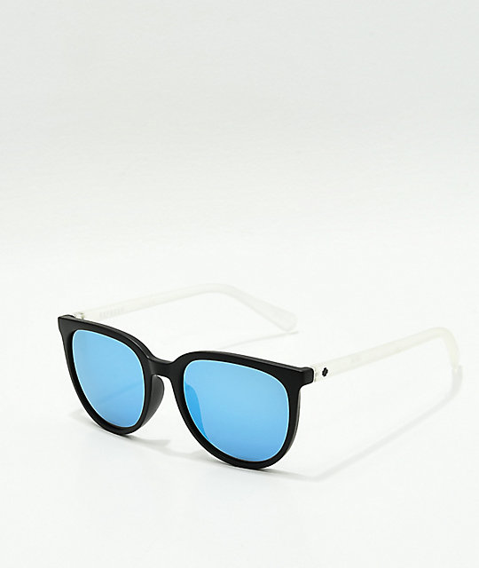 Spy Fizz Matte Black, Crystal & Light Blue Spectra Sunglasses