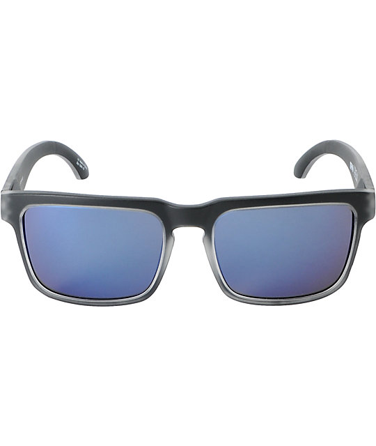 Spy Helm Black Ice & Purple Sunglasses