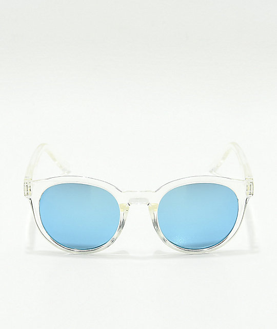 Spy Hi-Fi Crystal Grey & Blue Sunglasses