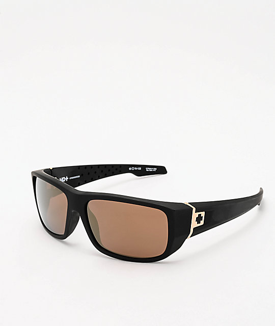 Spy MC3 25th Anniversary Matte Black & Gold Sunglasses