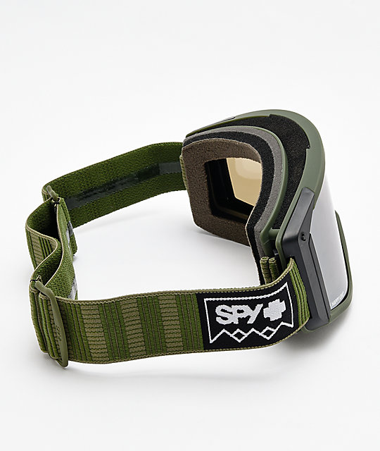 Spy Raider Deep Winter Olive Snowboard Goggles