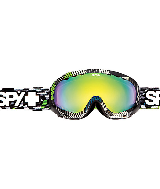 Spy Solider Space Out Glow-In-The-Dark Yellow & Green Spectra Snowboard Goggles