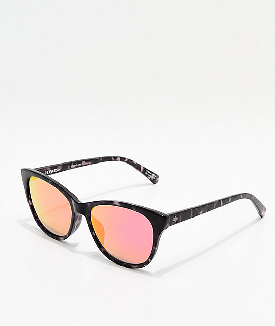 a29f3004b8e7f Spy Spritzer Black Tortoise   Pink Sunglasses