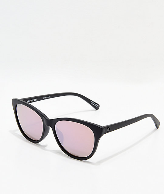 Spy Spritzer Matte Black & Bronze Sunglasses
