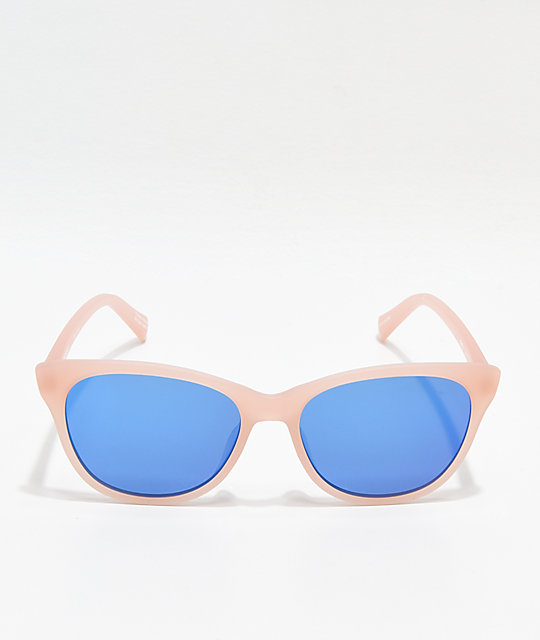 Spy Spritzer Matte Translucent Blush & Blue Sunglasses