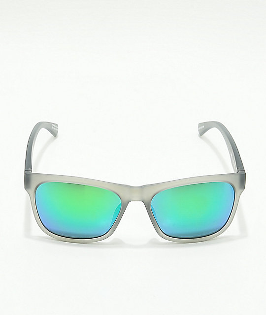 Spy Sundowner Matte Transparent & Green Spectra Sunglasses