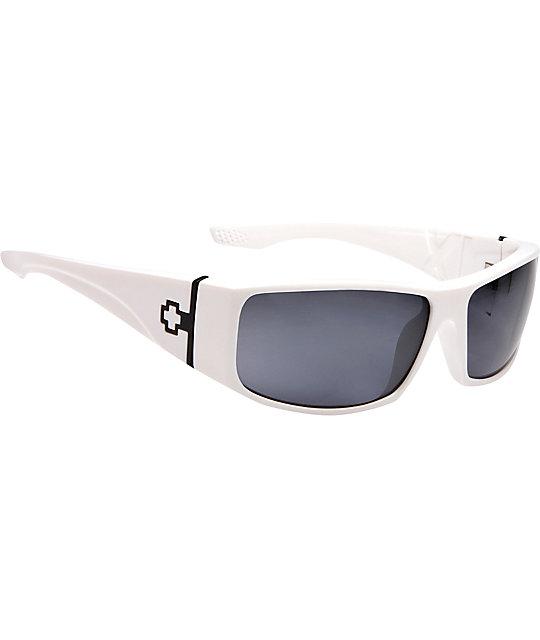 33247892be Spy Sunglasses Cooper XL White Polarized Sunglasses