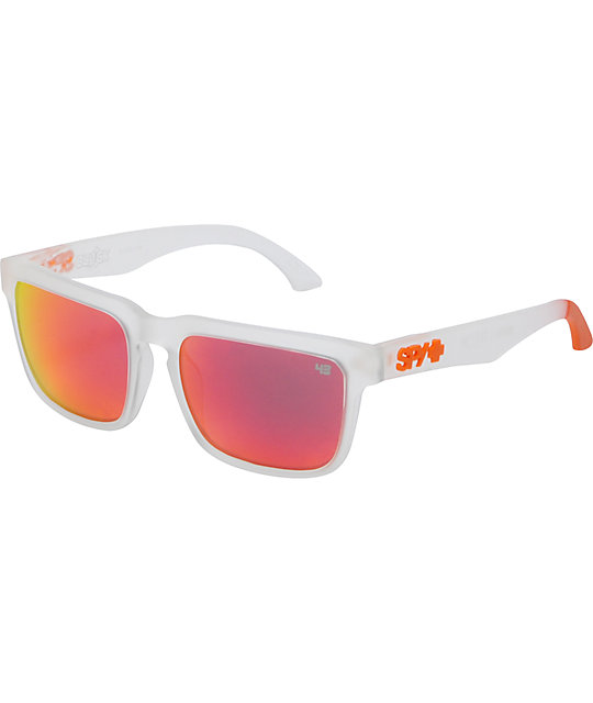 31647ac5a4 Spy Sunglasses Helm Ken Block Grey & Orange Sunglasses | Zumiez