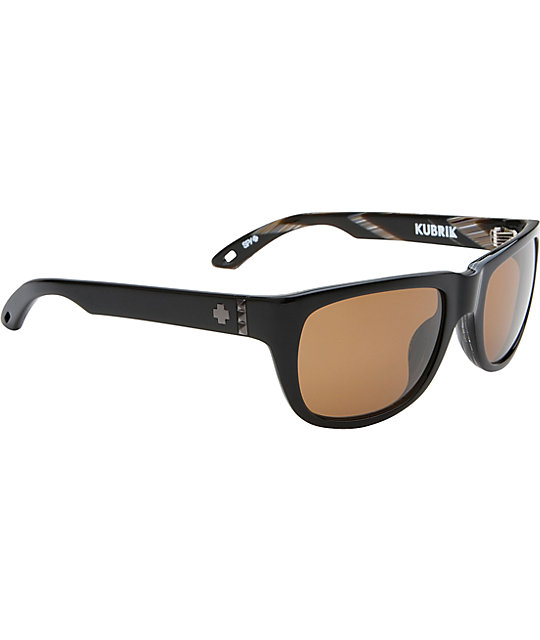 Spy Sunglasses Kubrik Black Horn & Bronze Sunglasses