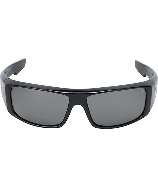 Spy Sunglasses Logan Black & Grey Polarized Sunglasses