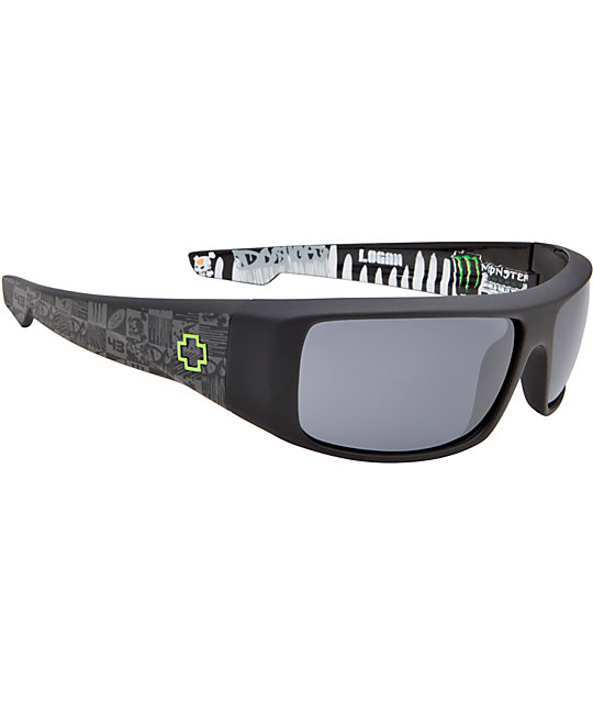 Spy Sunglasses Logan Ken Block Signature Matte Black & Grey Sunglasses