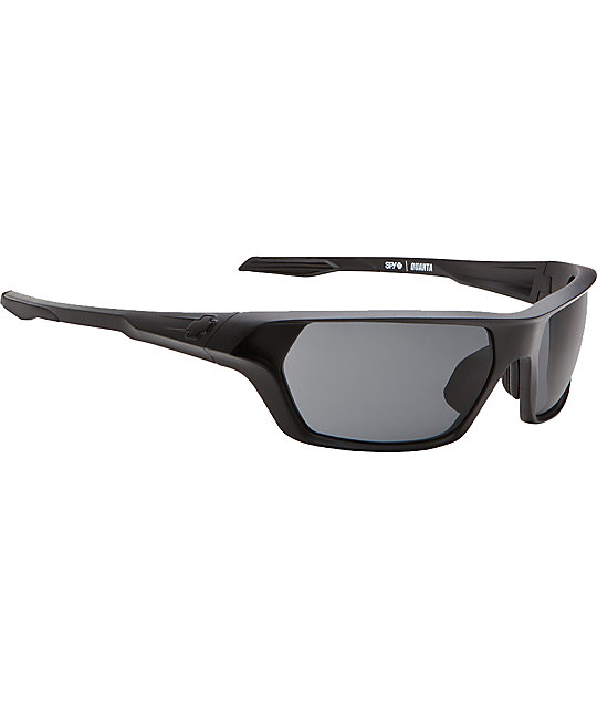 Spy Sunglasses Quanta Matte Black & Grey Sunglasses