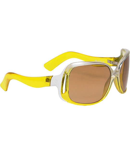 Spy Sunglasses Richelle Yellow Snow & Carmel Brown Sunglasses