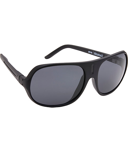 Spy Sunglasses Sunglasses Stratos II Matte Black & Grey Sunglasses