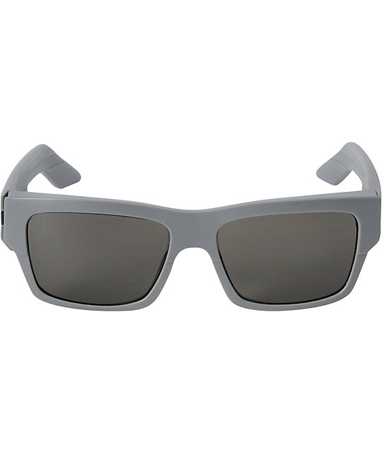 Spy Sunglasses Tice Matte Grey & Grey Sunglasses