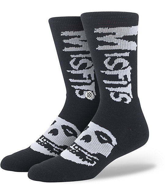 Stance 20 Eyes Black Crew Socks