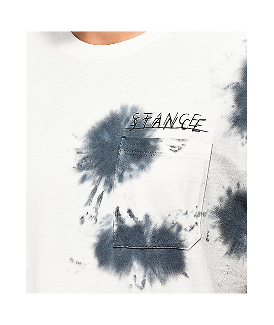 Stance Black Tie Dye Pocket T-Shirt