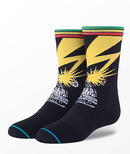 Stance Boys Bad Brains Black Crew Socks