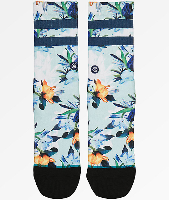 Stance Boys Wipeout Floral & Blue Crew Socks