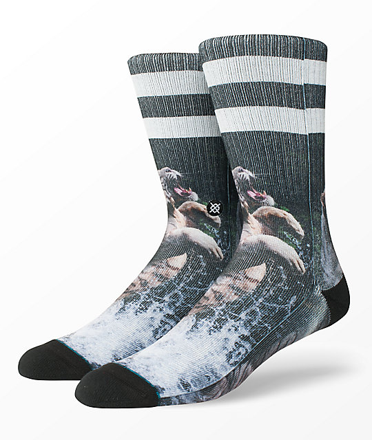 Stance Khan Black Crew Socks