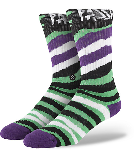 Stance Lizard King Glow In The Dark Crew Socks