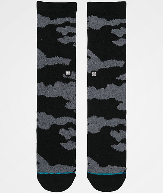 Stance Pitch Black Anthem Plush Crew Socks