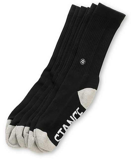 Stance Prime Black 3 Pack Crew Socks