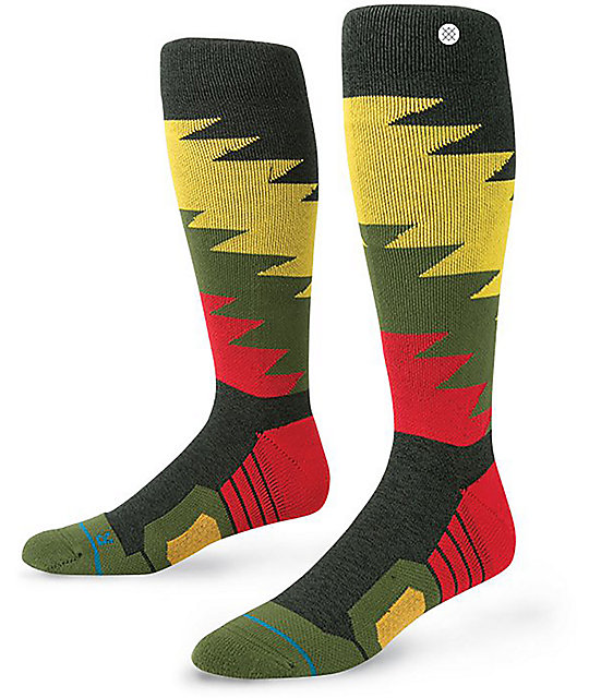 Stance Safety Meeting Rasta calcetines para la nieve | Zumiez