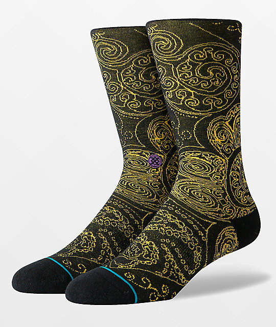 Stance Verdana Black & Gold Crew Socks