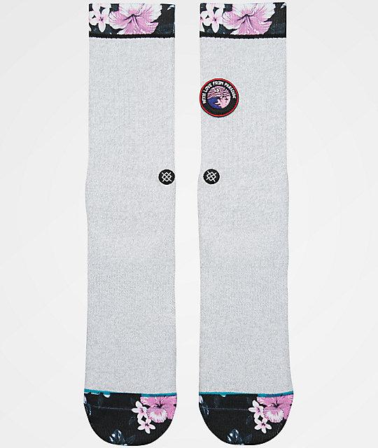 Stance With Love Grey Crew Socks ...