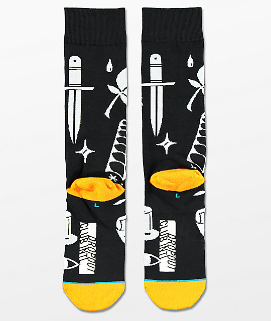Stance x DROPOUT CLUB INTL. Knife Show Jesse Brown calcetines en negro