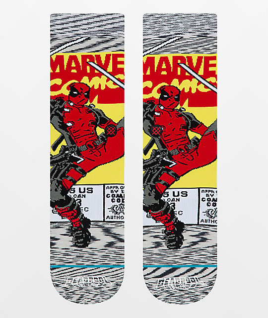 Stance x Deadpool Comic Crew Socks