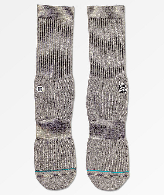 Stance x Star Wars Solid Trooper Heather Black Crew Socks