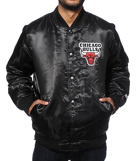 ceca81cbdffee3 Starter Chicago Bulls Satin Jacket