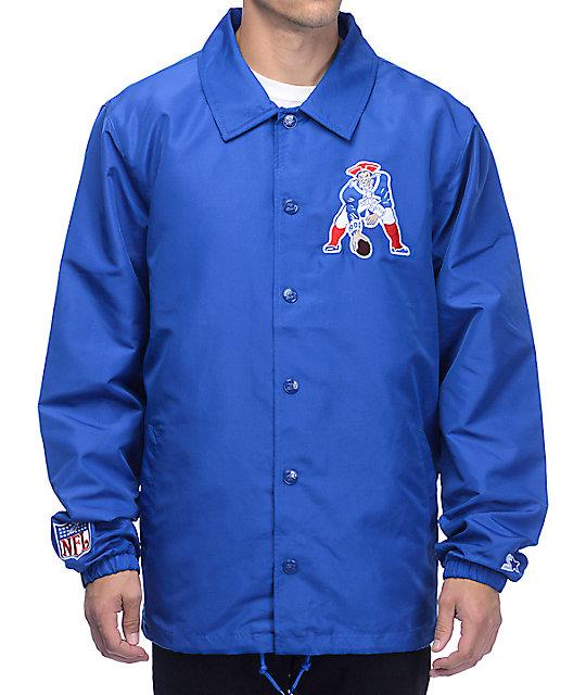 promo code 3898f aa9bf Starter New England Patriots Royal Blue Coaches Jacket