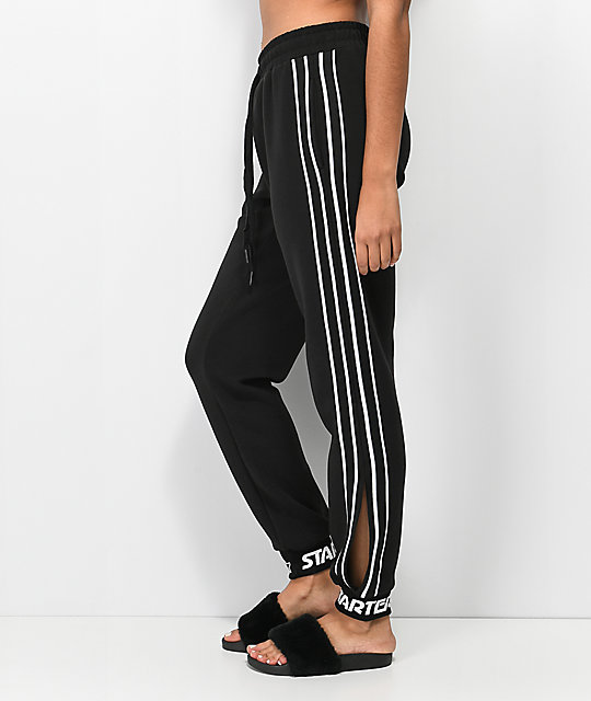 Starter joggers negros con aberturas laterales