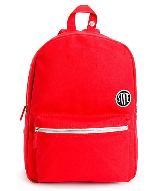 State Durham Red Laptop Backpack