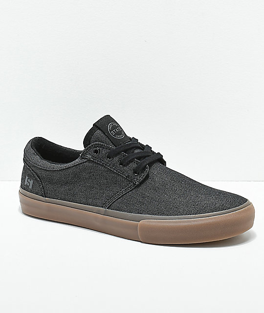 State Elgin Grey & Gum Denim Skate Shoes