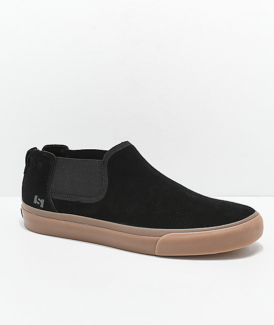 State Felton Black & Gum Skateboard Shoes by State Footwear