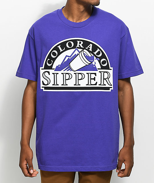 State Of Mind CO Sipper Purple T-Shirt