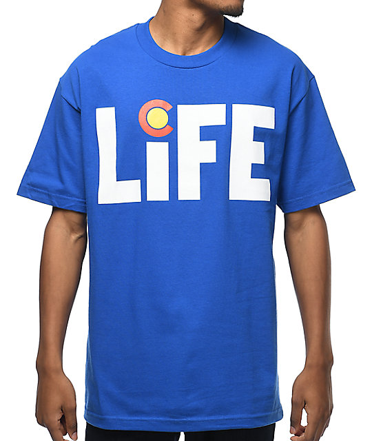 State Of Mind Colorado Life Blue T-Shirt