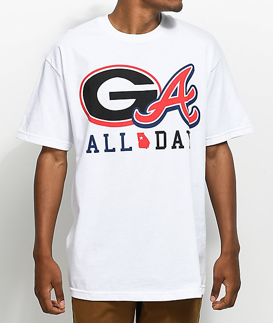 State Of Mind GA All Day Logos White T-Shirt